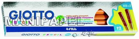 LÁPIZ TRIANGULAR DE GRAFITO NEGRO (12 unidades) FIL102006 HB 12