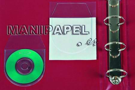 FUNDAS ADHESIVAS CD ib479ACDS Para 2 CDs, con solapa 60