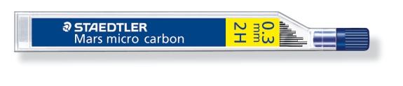 MINA MICRO CARBÓN DE 0.3 0.5 0.7 Y 0.9 mm (12 unidades) ST250032H 2H GRUESO DE MINA 0.3 mm