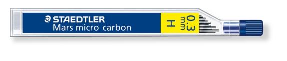 MINA MICRO CARBÓN DE 0.3 0.5 0.7 Y 0.9 mm (12 unidades) ST25003H H GRUESO DE MINA 0.3 mm