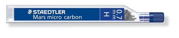 MINA MICRO CARBÓN DE 0.3 0.5 0.7 Y 0.9 mm (12 unidades) ST25007H H GRUESO DE MINA 0.7 mm
