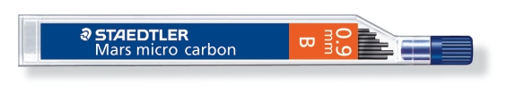 MINA MICRO CARBÓN DE 0.3 0.5 0.7 Y 0.9 mm (12 unidades) ST25009B B GRUESO DE MINA 0.9 mm