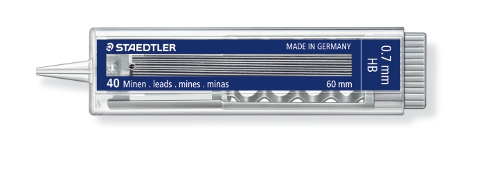 MINAS DE 0.5 Y 0.7 mm (40 unidades) ST25507HB HB GRUESO DE MINA 0.7 mm