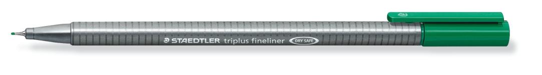 ROTULADOR TRIPLUS FINELINER ST3345 Verde 1