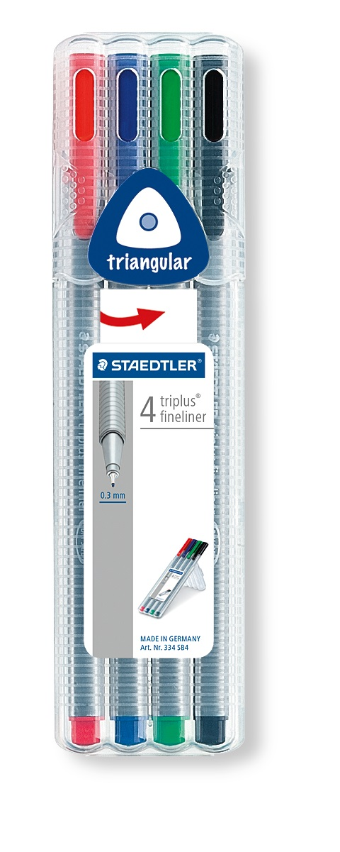 ROTULADOR TRIPLUS FINELINER ST334SB4 SURTIDO 4