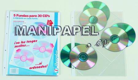 FUNDAS CD ib4756jcdr A4, 6 CDs, 4 taladros, refuerzo 5