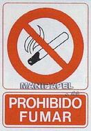 PLACAS DE SEÑALIZACIÓN NORMALIZADA FLUORESCENTE SS795A4106F Prohibido fumar
