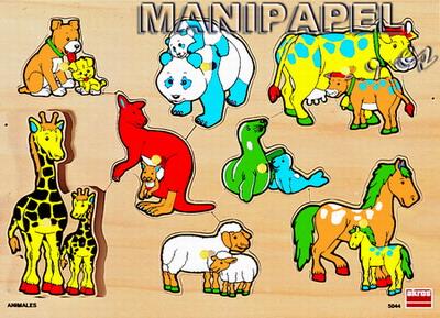 ENCAJES DE MADERA (2+) ak50443 2+ Animales y bebés