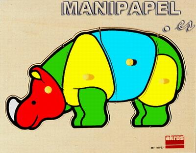 ENCAJES DE MADERA (3+) ak50922 3+ Rinoceronte