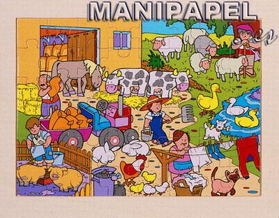 PUZZLES CON BANDEJA (3++) 48 PIEZAS ak52340 40 Pintando