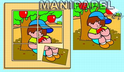 MIS PRIMEROS PUZZLES (2+) 6 PIEZAS ak55063 6 Con el árbol
