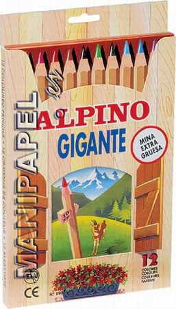 LÁPICES DE COLORES GIGANTE (12 unidades) AL000680
