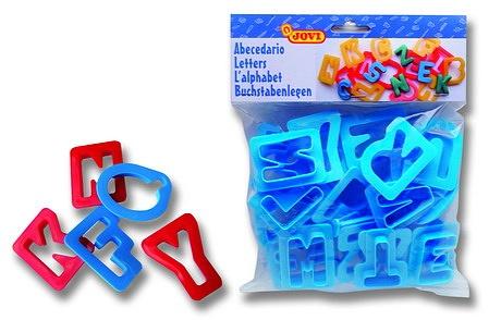 MOLDES DE LETRAS J7A Bolsas con 1 alfabeto