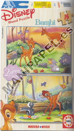 SUPER PUZZLES DISNEY 16 PIEZAS ED-10705 Bambi