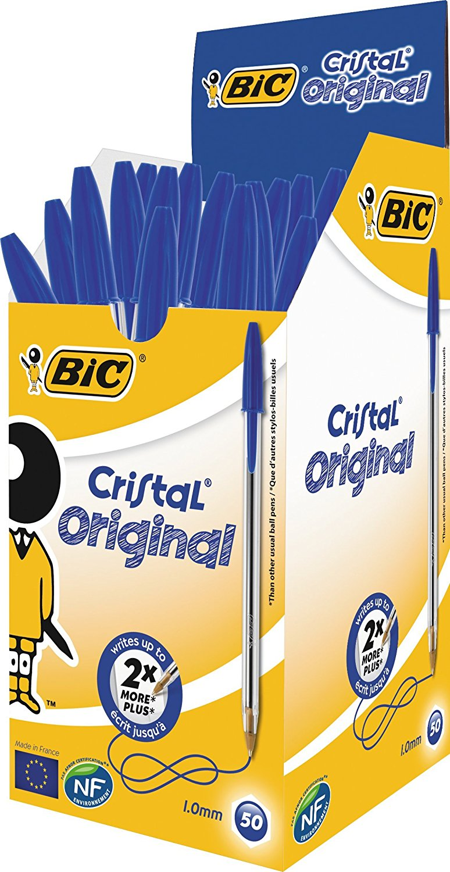 BOLÍGRAFO BIC CRISTAL (50 unidades) BICRIAZUL Azul
