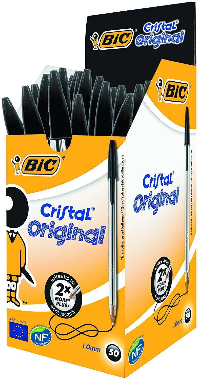BOLÍGRAFO BIC CRISTAL (50 unidades) BICRINEG Negro