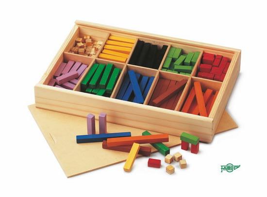 REGLETAS DE COLORES FA44-1 1x1 cm Caja de madera 300 piezas