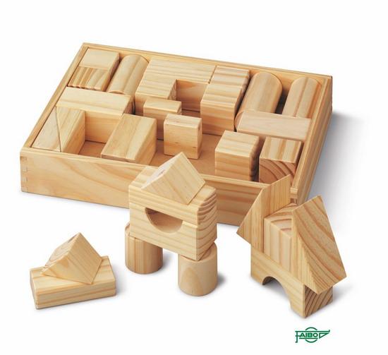 ARQUITECTURA MADERA FA895 Grande. 31 piezas. Arista de 44 mm Acabado: Madera natural - Envase: Caja de madera