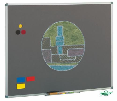 PIZARRAS PARA TIZA MARCO DE ALUMINIO 1014-7 Acero vitrificado GRIS 122*300 cm