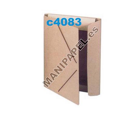 DOSSIERS Y CARPETAS CARTÓN RECICLADO CARCHI2033RE 335x225 mm Carpeta folio con gomas y solapas