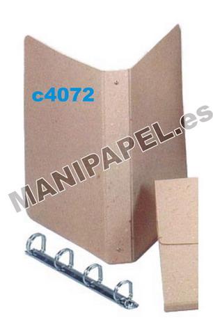 VARIOS CARTÓN RECICLADO CARCHI3402RE 40x310x250 mm Carpeta folio 4 anillas
