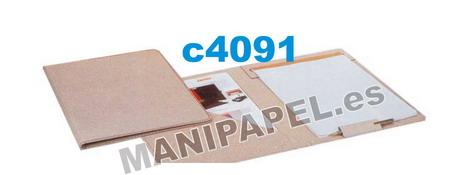 CARPETAS CONGRESO PESPUNTEADAS CARCHI9003RE Bolsa con porta-bolígrafos cosido y block