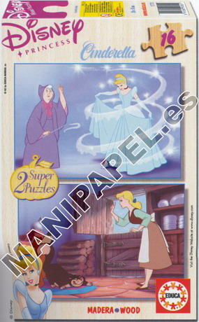SUPER PUZZLES DISNEY 16 PIEZAS ED-11977 La Cenicienta