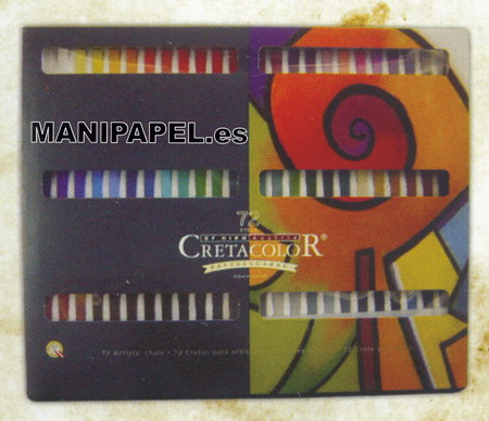 BARRITAS COLORES PASTEL CRETA48072 72 Colores