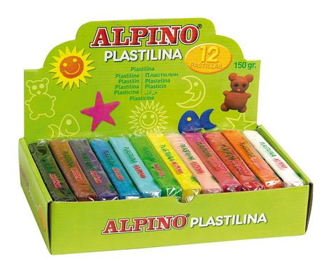 PLASTILINA ALPINO DP000918 SURTIDO Mediano (150 gr) 12