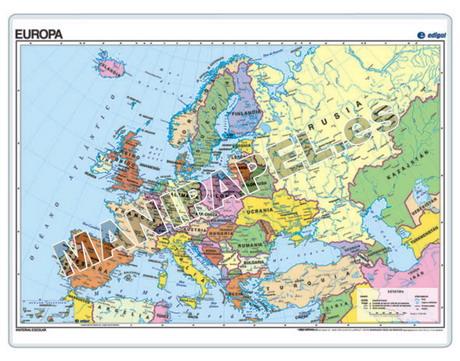 MAPAS PÓSTER ED-021 Europa Político
