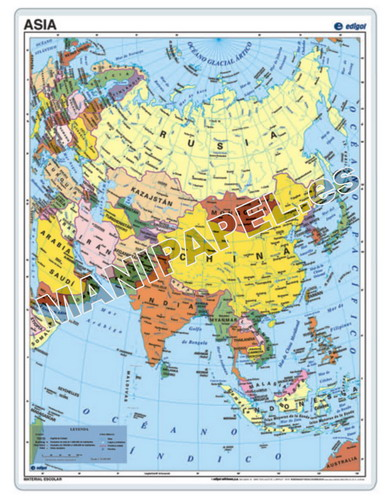 MAPAS PÓSTER ED-022 Asia