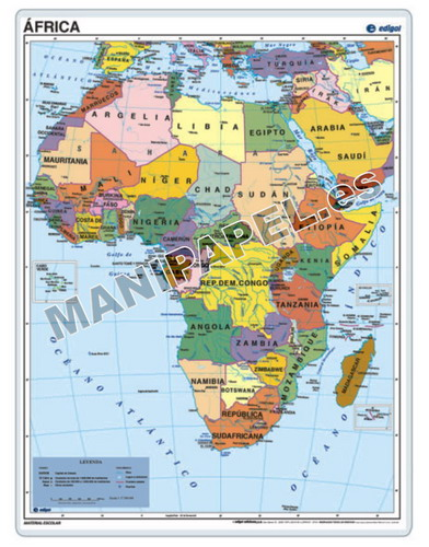 MAPAS PÓSTER ED-023 África
