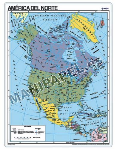 MAPAS PÓSTER ED-024 América del Norte