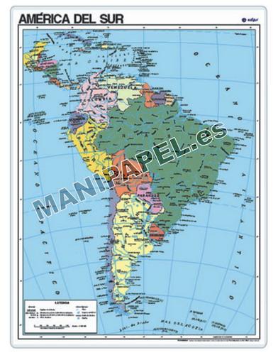 MAPAS PÓSTER ED-025 América del Sur