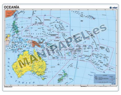 MAPAS PÓSTER ED-026 Oceanía