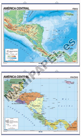 MAPAS MURALES FÍSICO / POLÍTICO ED-1204 América Central