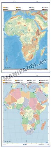 MAPAS MURALES MUDOS FÍSICO / POLÍTICO ED-1308 África