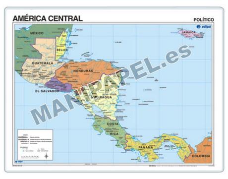 MAPAS PÓSTER ED-1312 América Central