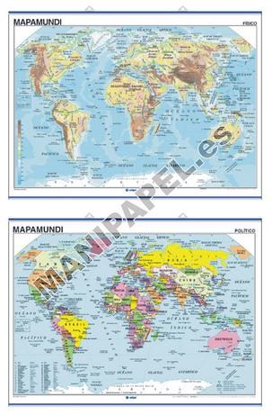 MAPAS MURALES FÍSICO / POLÍTICO ED-400 Mapamundi