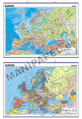 MAPAS MURALES FÍSICO / POLÍTICO ED-401 Europa
