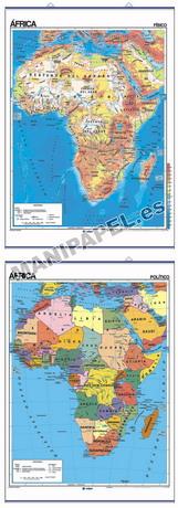 MAPAS MURALES FÍSICO / POLÍTICO ED-402 África