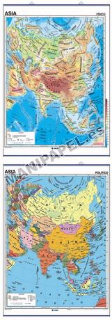 MAPAS MURALES FÍSICO / POLÍTICO ED-403 Asia