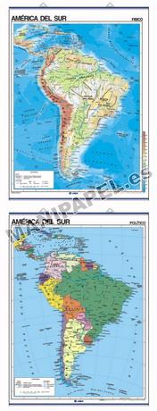 MAPAS MURALES FÍSICO / POLÍTICO ED-404 América del Sur