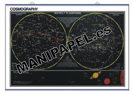 LÁMINAS DE NATURALEZA INGLÉS ED-428 100 x 140 cm. Cosmography / Orbits and Eclipses