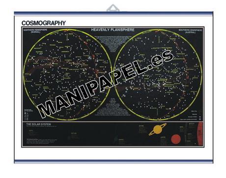 LÁMINAS DE NATURALEZA INGLÉS ED-461 50 x 35 cm. Cosmography, Heavenly Planisphere