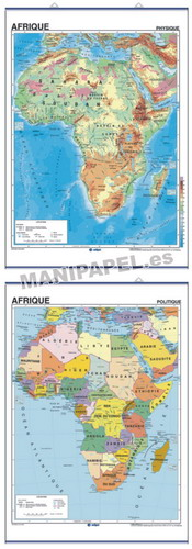 MAPAS MURALES EN FRANCÉS FÍSICO / POLÍTICO ED-472 Físico / Político Afrique