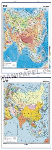 MAPAS MURALES EN FRANCÉS FÍSICO / POLÍTICO ED-473 Físico / Político Asie
