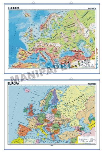 MAPAS MURALES EN ALEMÁN FÍSICO / POLÍTICO ED-595 Físico / Político Europa