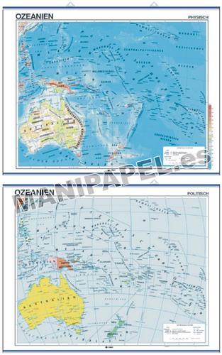 MAPAS MURALES EN ALEMÁN FÍSICO / POLÍTICO ED-599 Físico / Político Australien