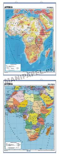 MAPAS MURALES EN ALEMÁN FÍSICO / POLÍTICO ED-601 Físico / Político Afrika